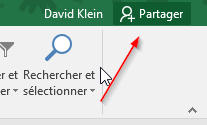 Partager Excel 2016